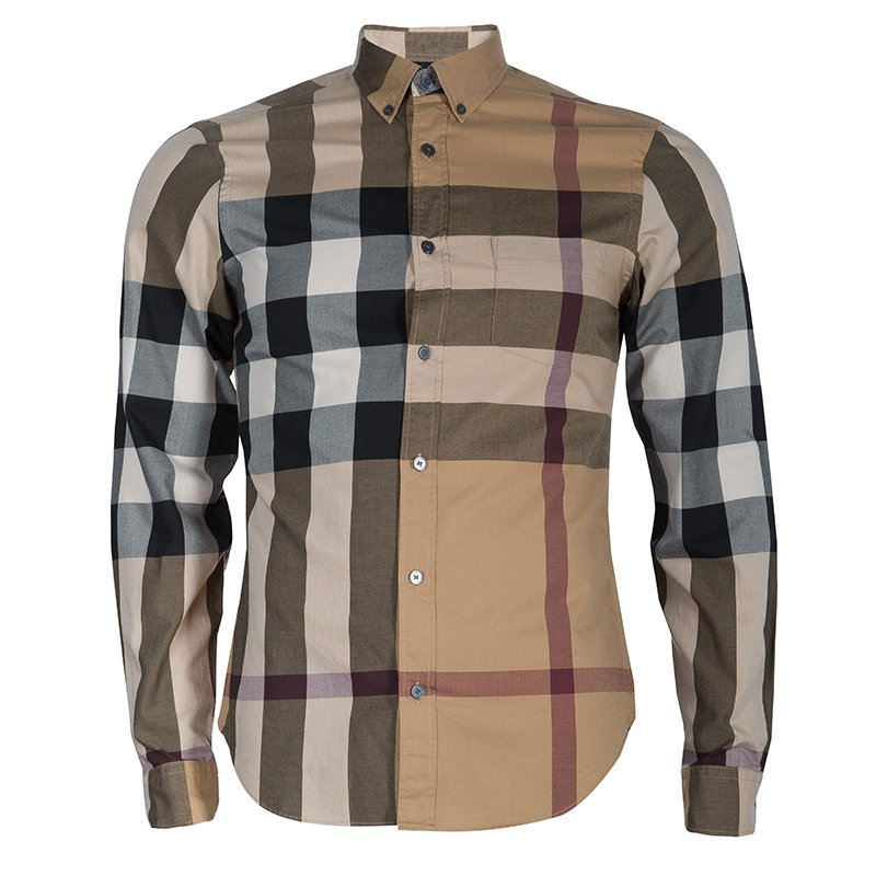70bc571e5c92 Buy Burberry Men s Novacheck Button Down Shirt S 54416 at best price ...