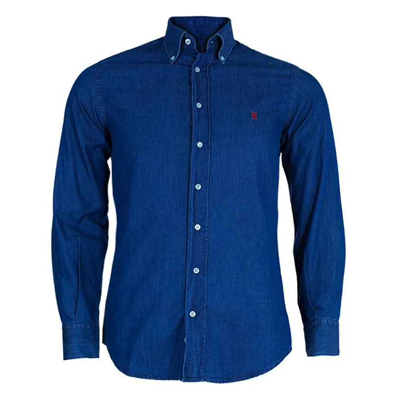16a3482a9c7ee إشتري قميص جينز رجالي سي أتش كارولينا هيريرا أزرق S 45786 بأفضل ...