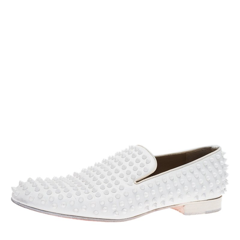 ecf2b875c904 ... Christian Louboutin White Spiked Leather Dandelion Slip-On Size 42.5.  nextprev. prevnext