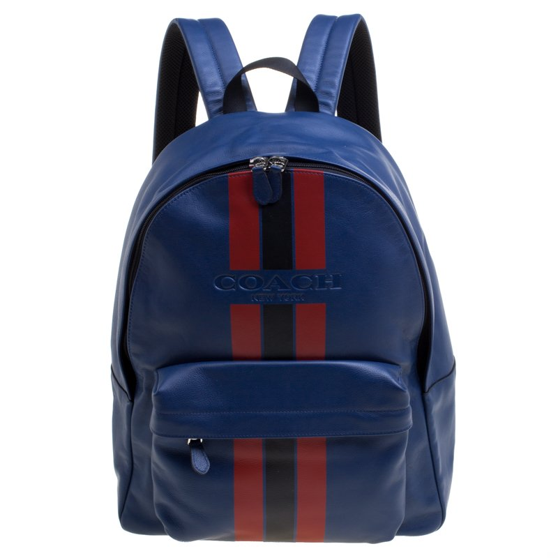 f7923d3d982c Buy Coach Midnight Blue Leather New Varsity Charles Backpack 102864 ...