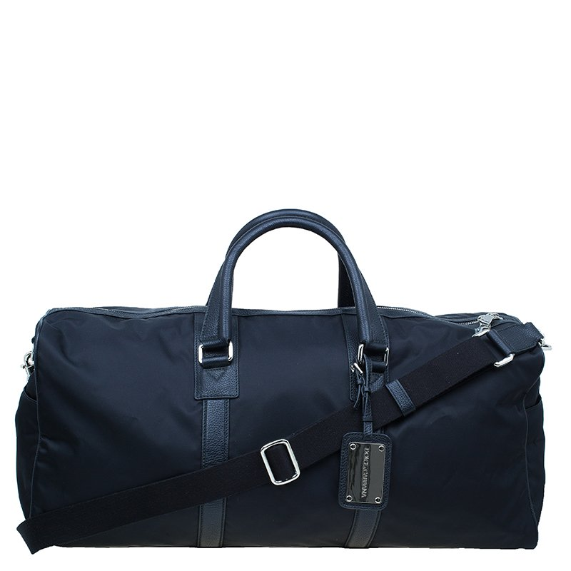 b7d4212b65 ... Dolce and Gabbana Black Nylon Leather Profile Travel Bag. nextprev.  prevnext