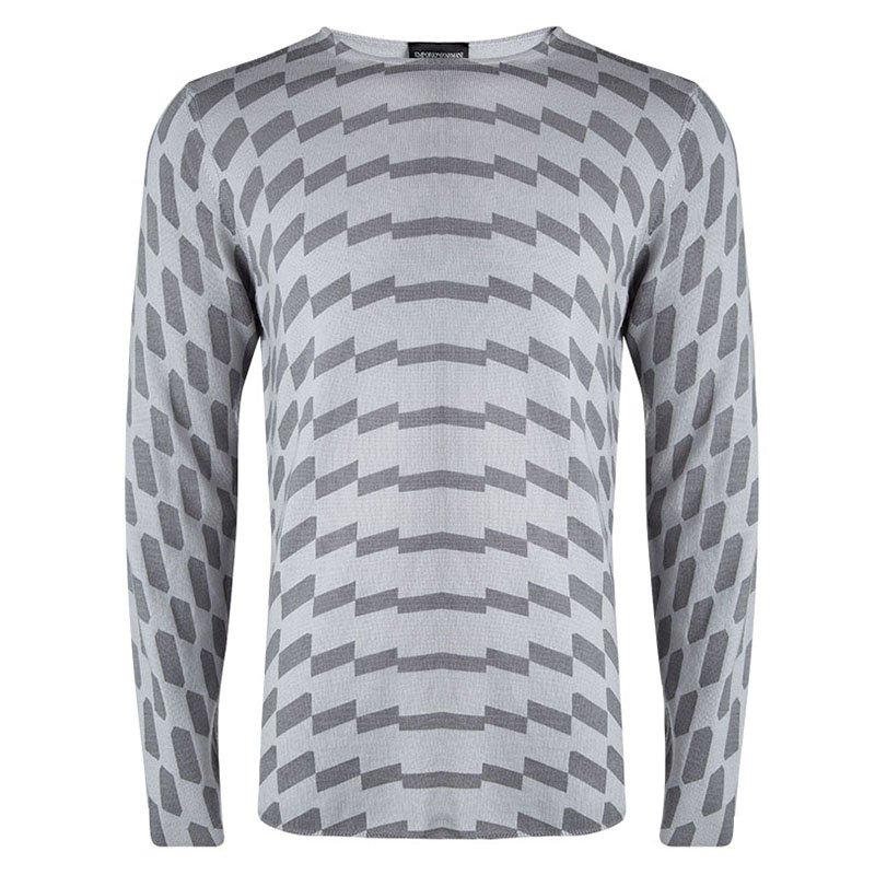 cc6e278ce1fdcb ... Emporio Armani Grey Wool Geometric Pattern Sweater XL. nextprev.  prevnext