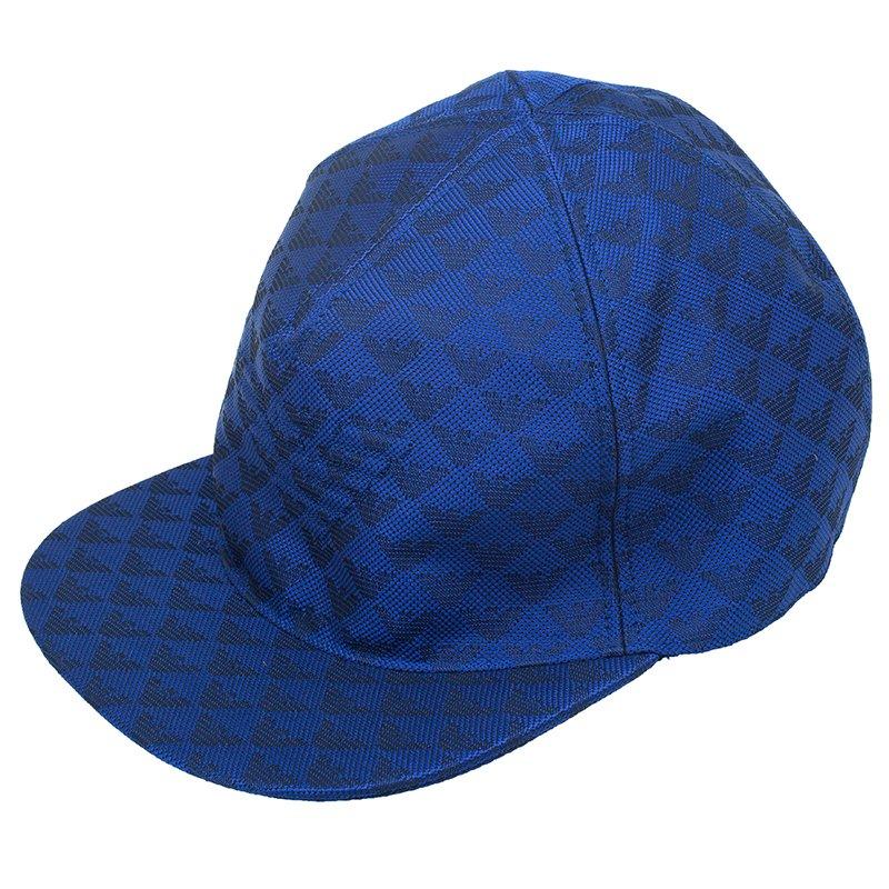 93cca3ed79 Buy Emporio Armani Blue Monogram Baseball Cap Size L 52775 at best ...