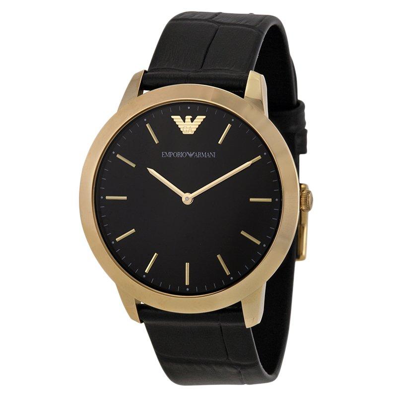 feinste Stoffe eine große Auswahl an Modellen 2019 Neupreis Emporio Armani Black Gold-Plated Stainless Steel AR1742 Men's Wristwatch  42MM