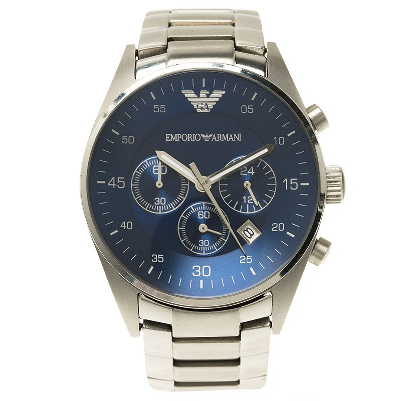 f60a241f812 ... Emporio Armani Blue Stainless Steel AR5860 Men s Wristwatch 43MM.  nextprev. prevnext