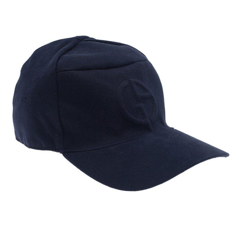 967577ebcba Buy Giorgio Armani Blue Logo Baseball Cap Size 59 377 at best price ...