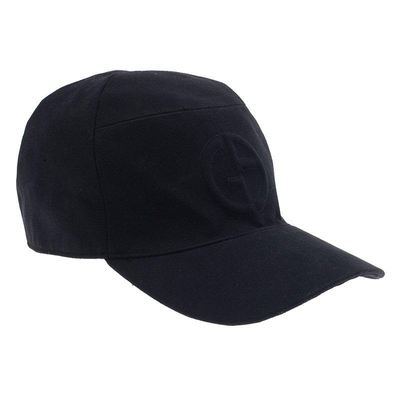 Giorgio Armani Black Logo Baseball Cap Size 60