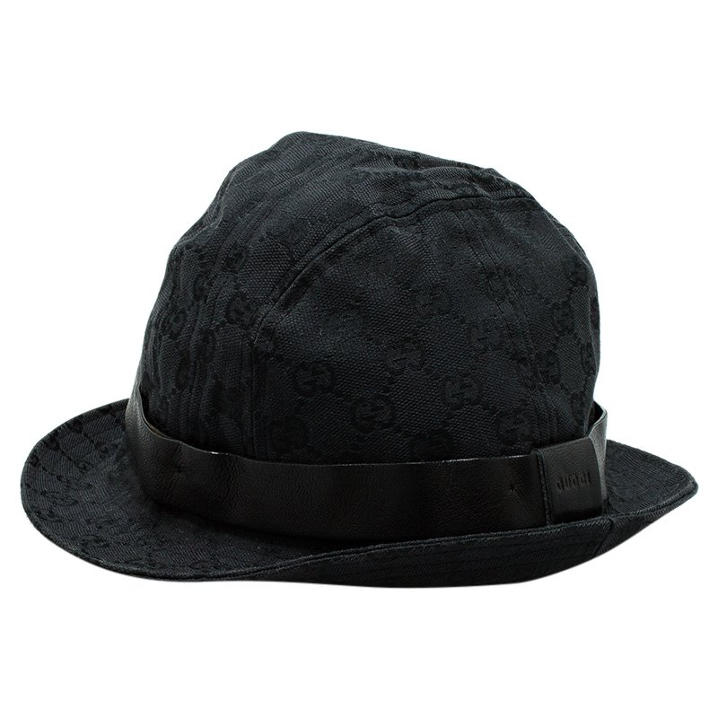 d0d42a8ae35 Buy Gucci Black Monogram Bucket Hat Size S 53272 at best price
