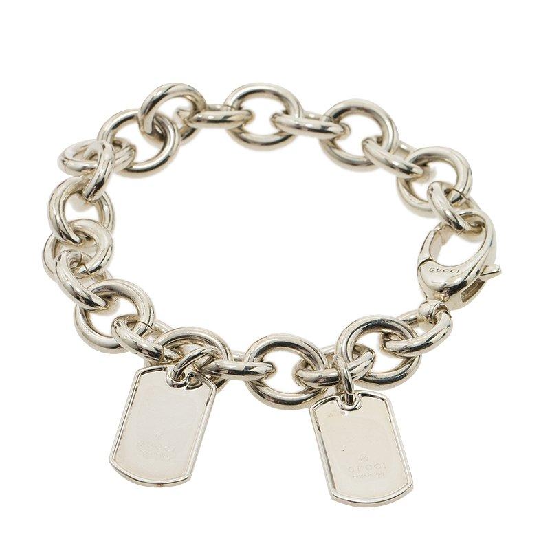 fc2ebd7ea Buy Gucci Dog Tag Silver Chain Bracelet 53861 at best price | TLC
