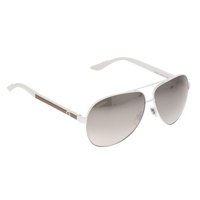 69266e524549 Buy Gucci White GG 1951/S Aviator Sunglasses 89006 at best price   TLC