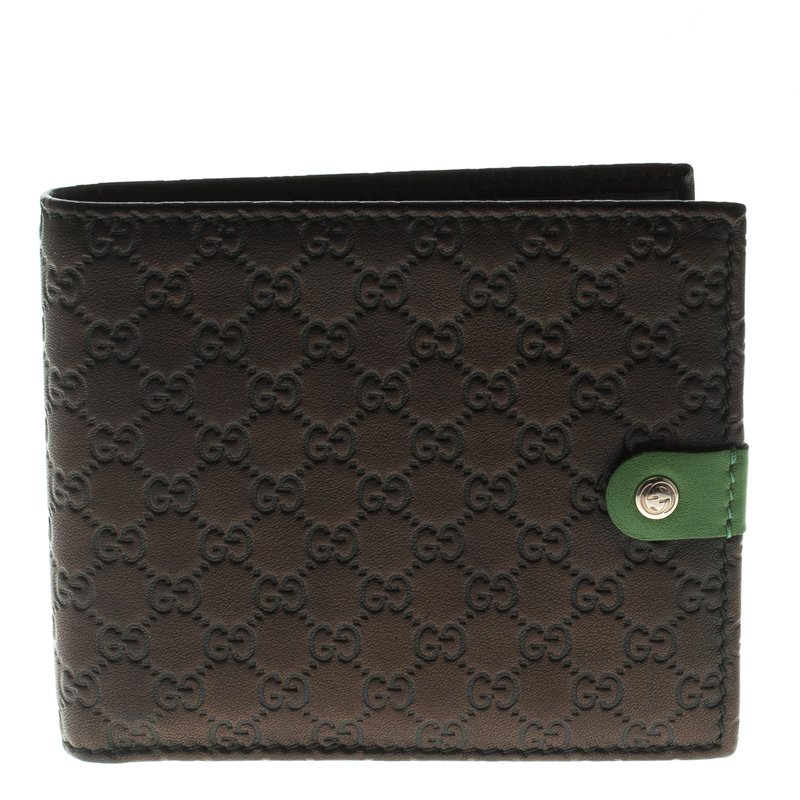 0af02199a7e ... Gucci Metallic Black Micro Guccissima Leather Bifold Wallet. nextprev.  prevnext