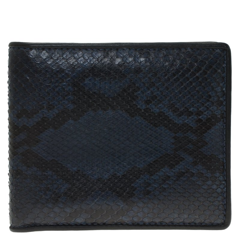 e64728de68b0 Buy Gucci Blue Snake Skin Bi-Fold Wallet 61010 at best price