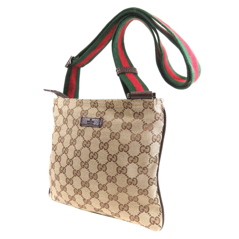 05b61ef8aa1 Gucci Beige Ebony Gg Canvas Messenger Bag 61684 At Best Tlc