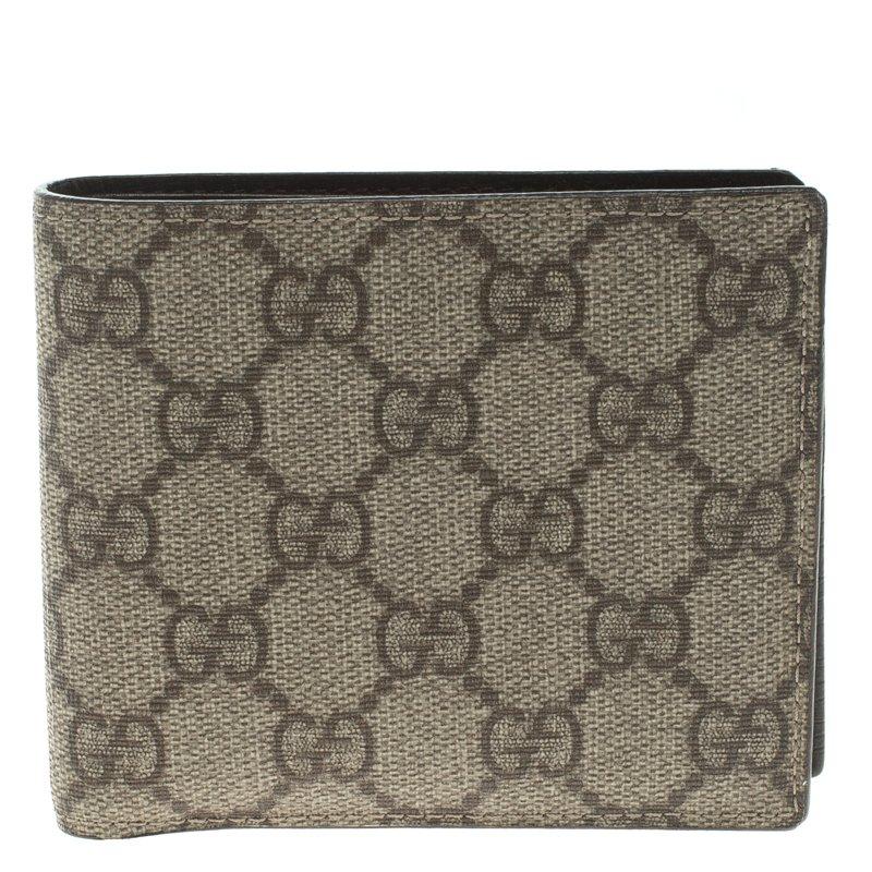 309c15f8ebfb0e Buy Gucci Beige GG Supreme Canvas Bi Fold Wallet 99099 at best price ...
