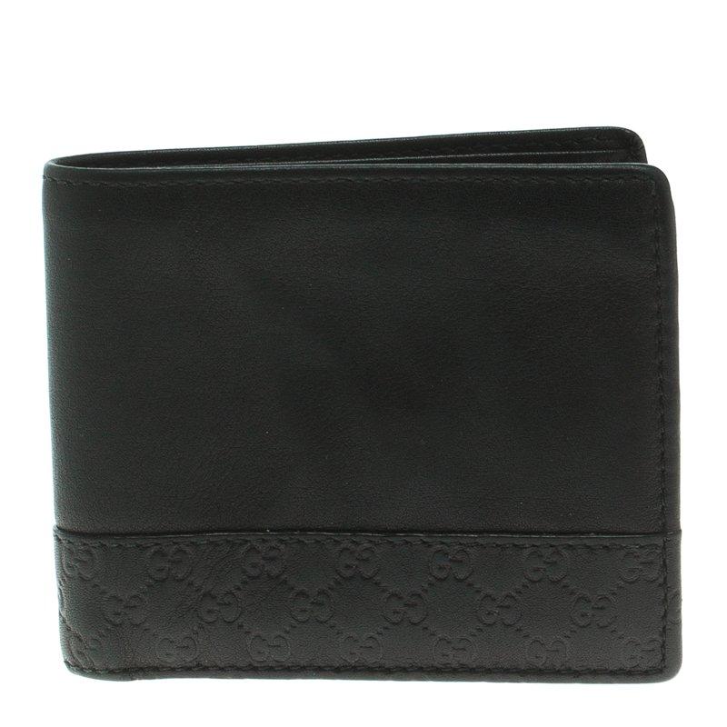 f22e31c95e0 ... Gucci Black Leather Micro Guccissima Trim Bi-Fold Wallet. nextprev.  prevnext