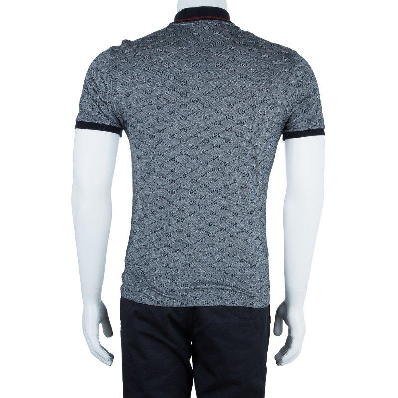 Gucci Men\u0027s Grey GG Polo Shirt M