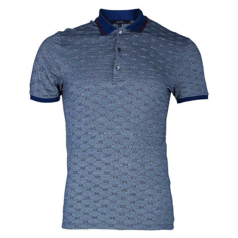 Gucci Men\u0027s Grey Polo Shirt L
