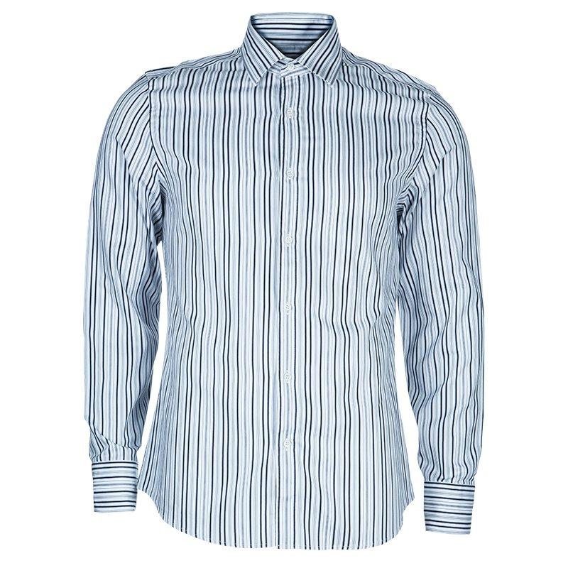 c87d4bbb Buy Gucci Men's Navy Striped Shirt M 47878 at best price   TLC