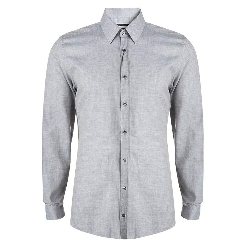 706f6a8a2 ... Gucci Grey Long Sleeve Button Front Slim Fit Shirt XL. nextprev.  prevnext