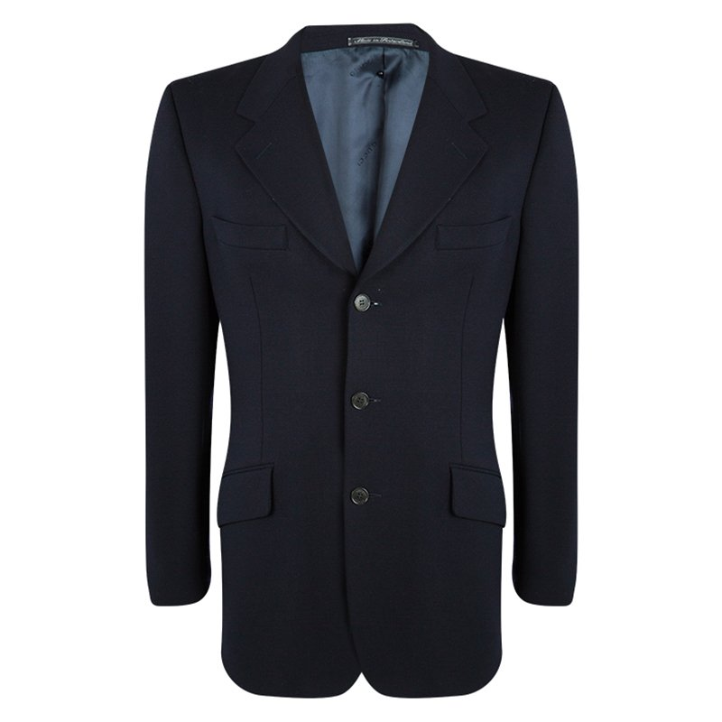 Buy Gucci Navy Blue Wool Blazer XL 97505 at best price  acf584523546