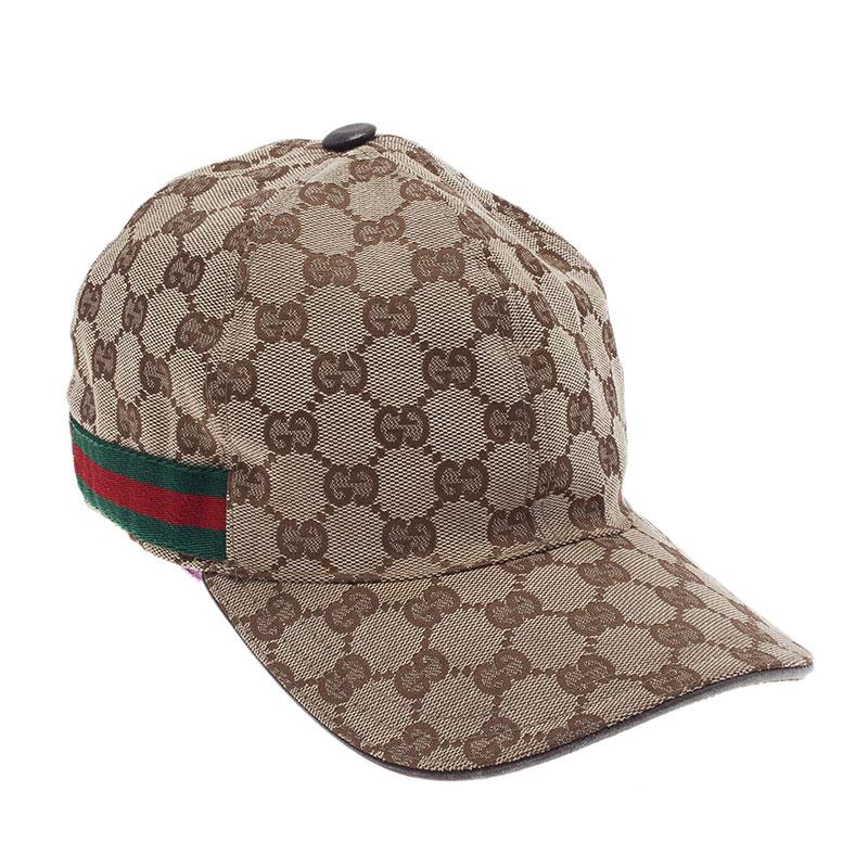6d10ce6f51834 Buy Gucci Guccissima Canvas Web Detail Baseball Cap Size M 40353 at ...