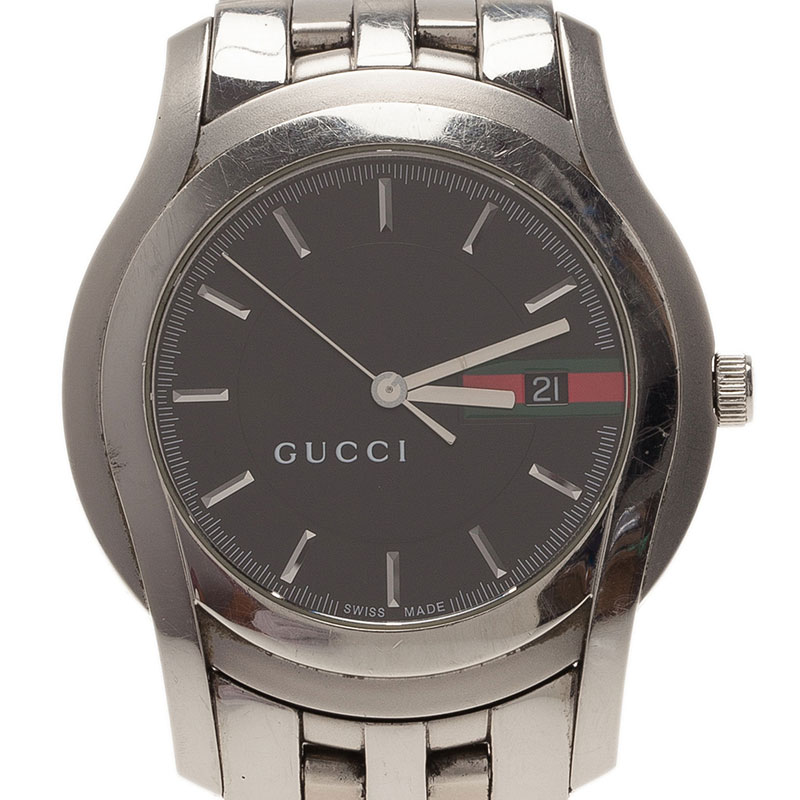 34ef7ff0fc2 Buy Gucci Black Stainless Steel 5500XL Men s Wristwatch 38MM 41773 ...