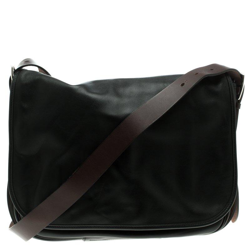 72fd5bf5d3a0 ... Hermes Black Box Calf Leather Barda Messenger Bag. nextprev. prevnext