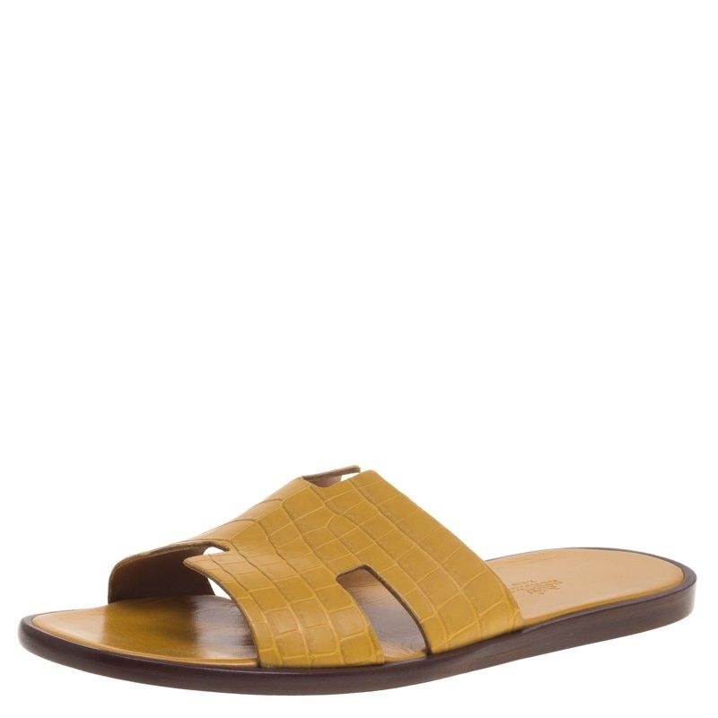 54b2c1d36f31 ... Hermes Mustard Yellow Croc Izmir Sandals Size 44. nextprev. prevnext