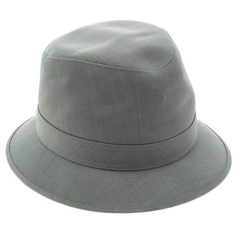Buy Hermes Grey H Embroidered Funky Fedora Hat ( Size 58 ) 92945 at ... 7a2ca4fbb4b