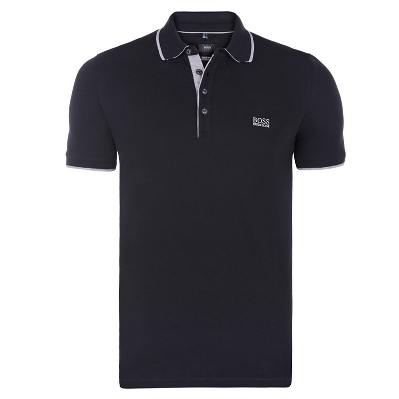 a47cc20b0 ... Hugo Boss Black Cotton Logo Short Sleeve Polo Shirt XL. nextprev.  prevnext