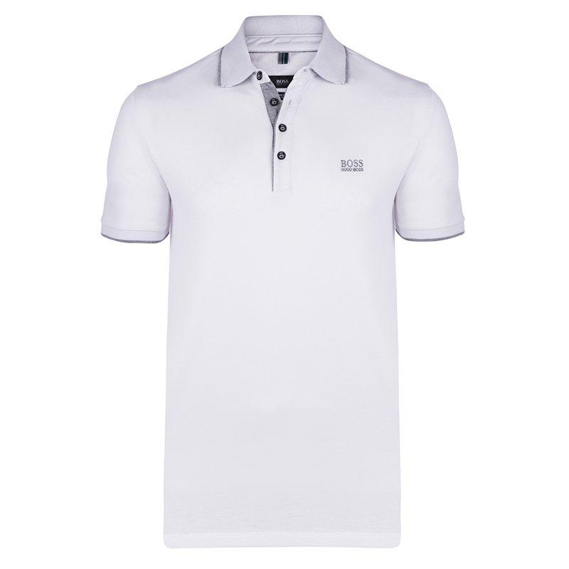 8485f826d ... Hugo Boss White Cotton Logo Short Sleeve Polo Shirt S. nextprev.  prevnext