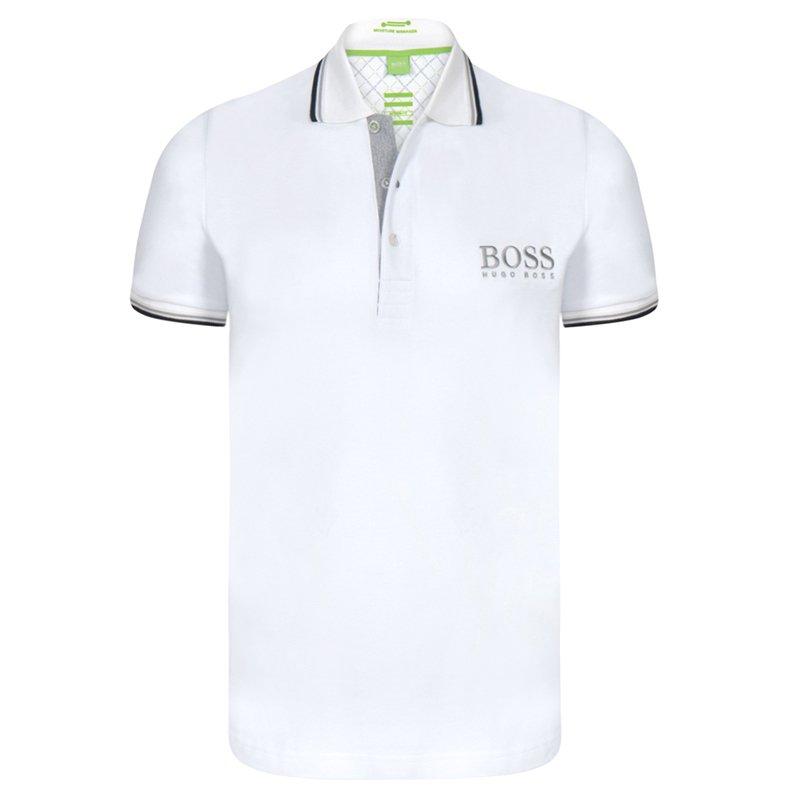 8b6aadec4 ... Hugo Boss White Contrast Stripe Cotton Logo Polo Shirt XL. nextprev.  prevnext