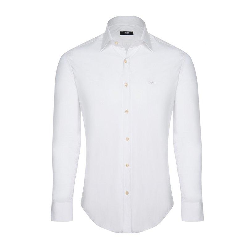 e696cc8e3 Buy Boss by Hugo Boss White Long Sleeve Shirt L 72237 at best price ...