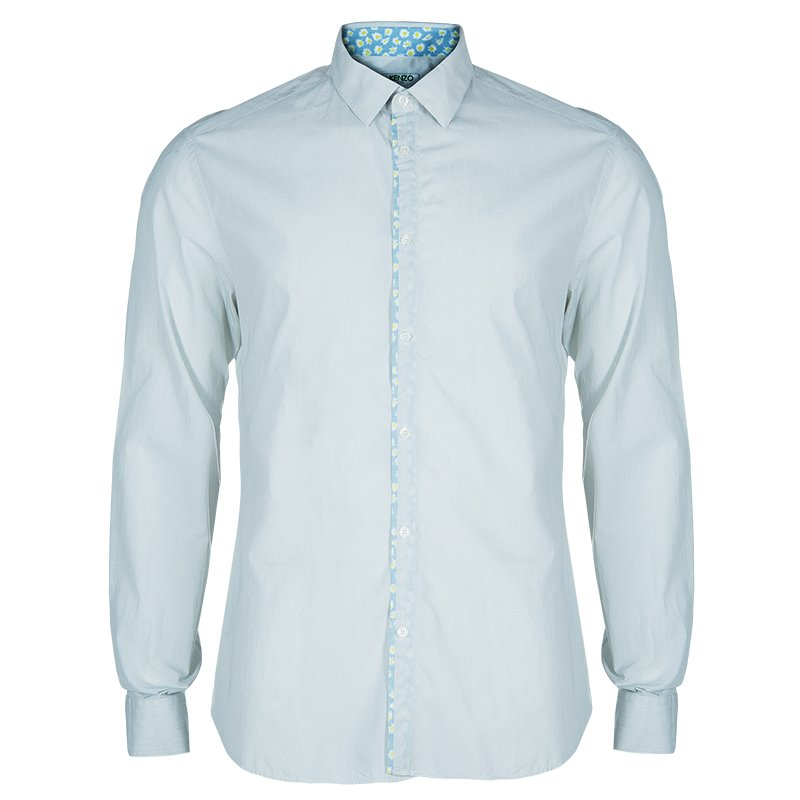 b3cb7dad2cff Buy Kenzo Men's Light Blue Shirt L 48347 at best price | TLC