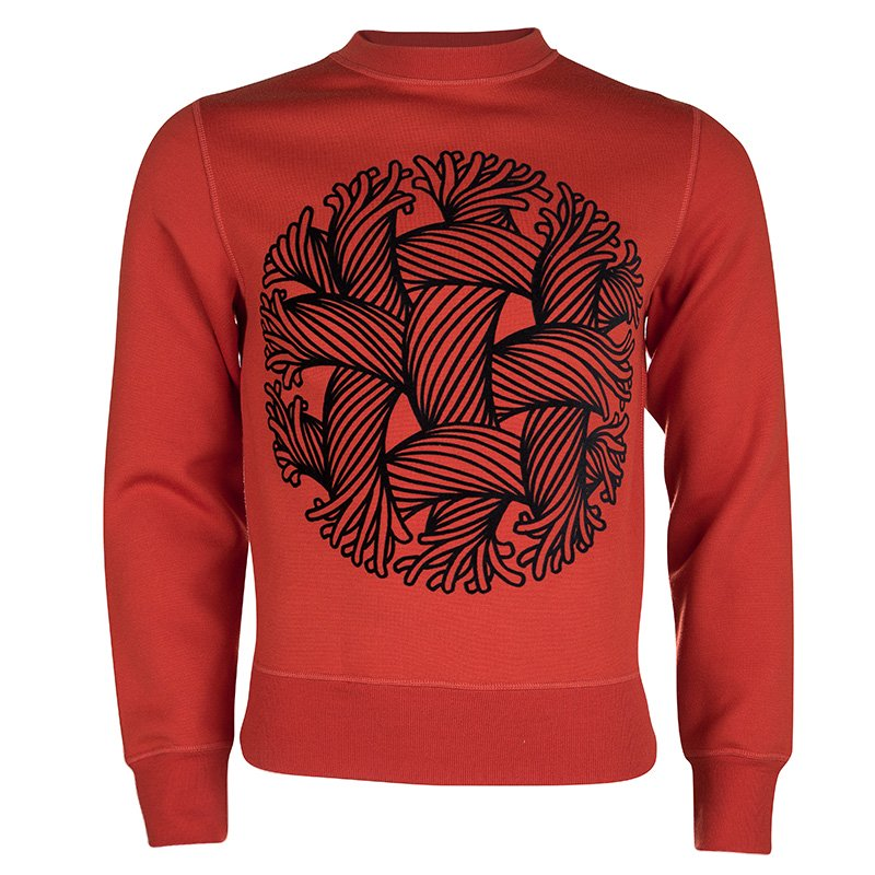 Louis Vuitton FW'15-16 Red Flock Print Sweatshirt S