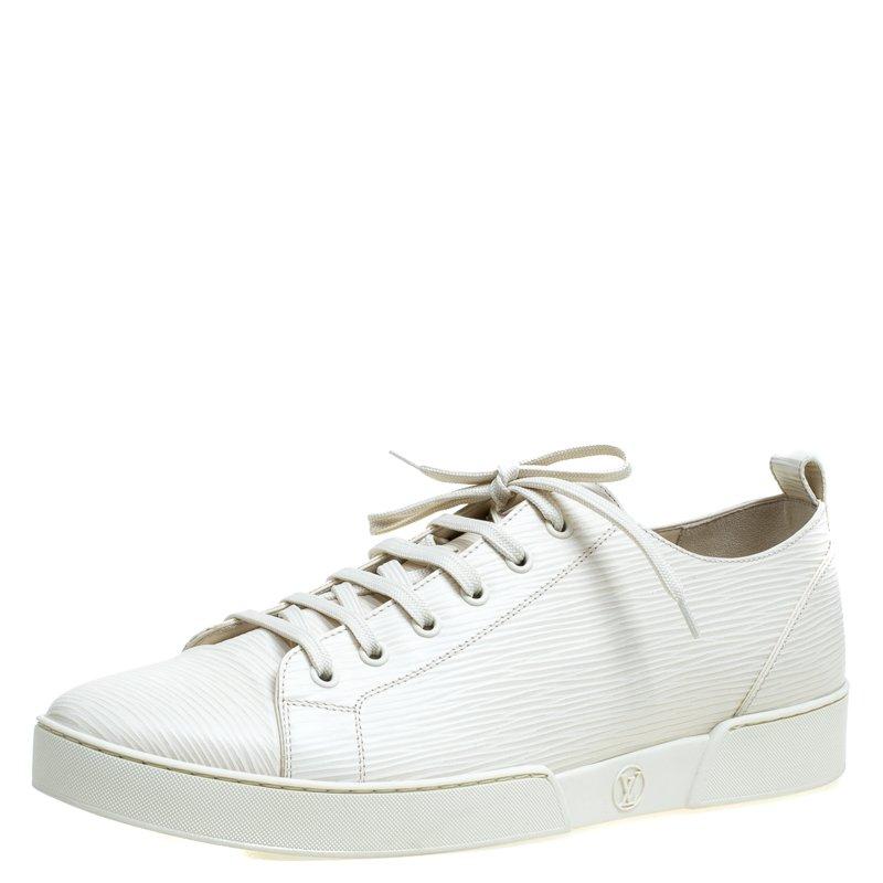 aff1289bad84 ... Louis Vuitton White Epi Leather Match Up Sneakers Size 43. nextprev.  prevnext