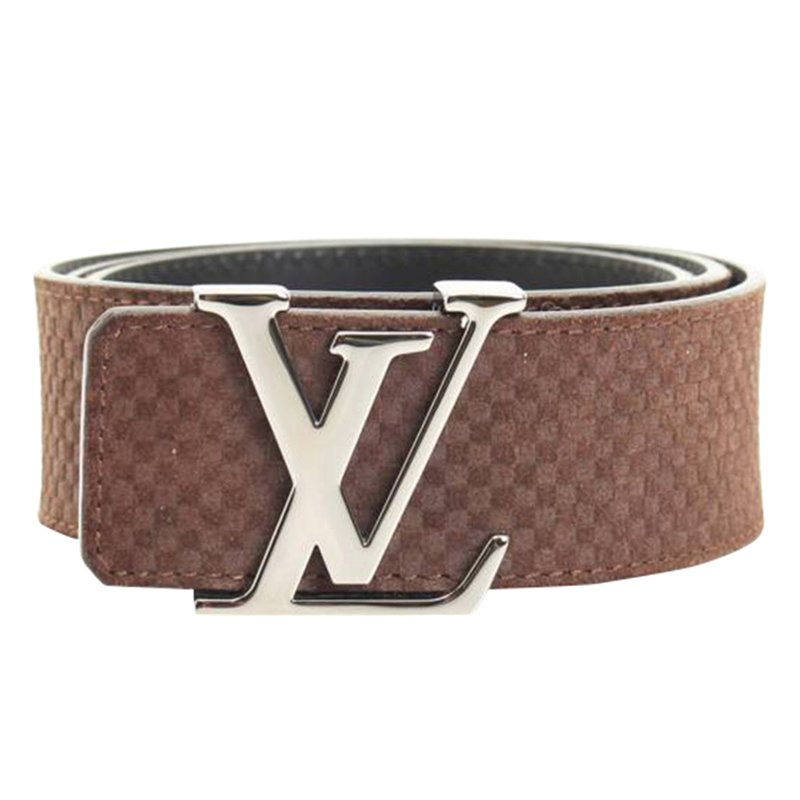 Nytt Buy Louis Vuitton Brown Suede Initiales Belt 83698 at best price   TLC BA-02