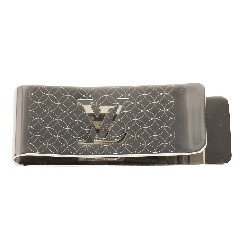 e53c8f21fb Louis Vuitton Champs Elysees Silver Tone Bill Clip