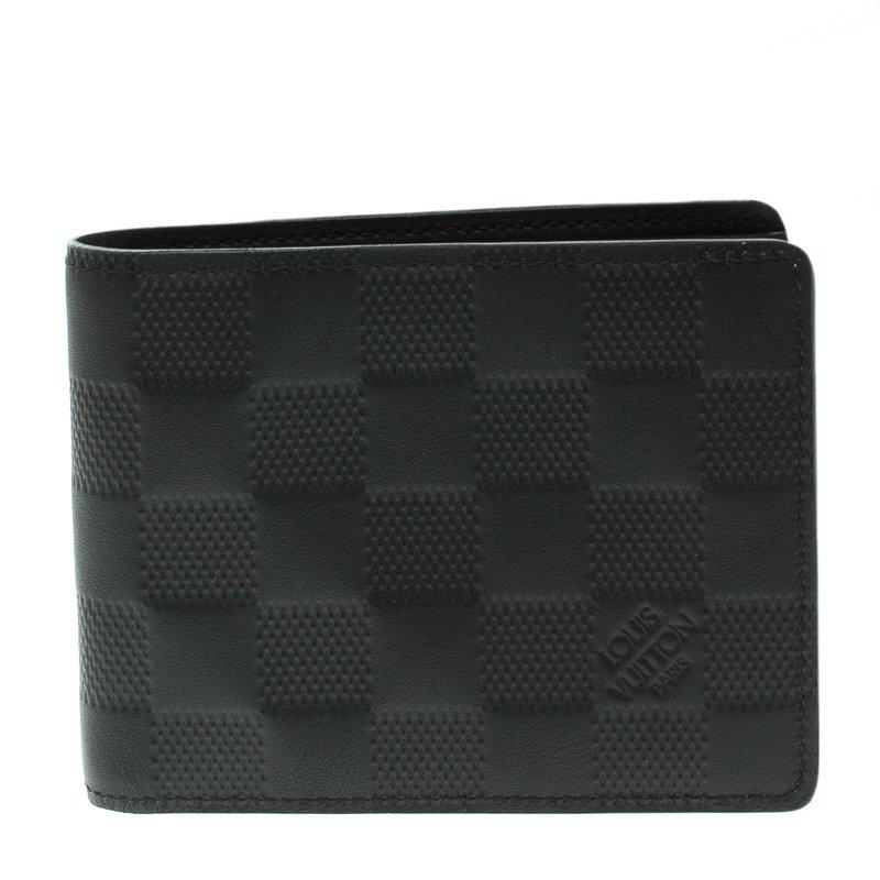 ac7fdd848c4d Louis Vuitton Black Damier Infini Leather Slender Wallet. nextprev. prevnext  .