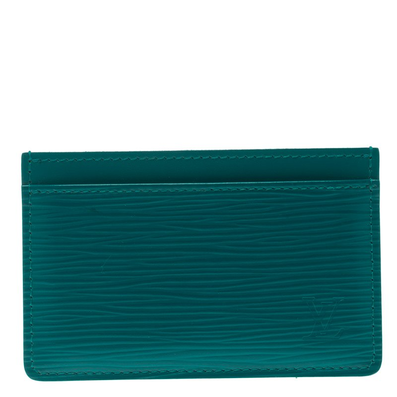 b9c4b2a0 Louis Vuitton Turquoise Epi Leather Card Holder