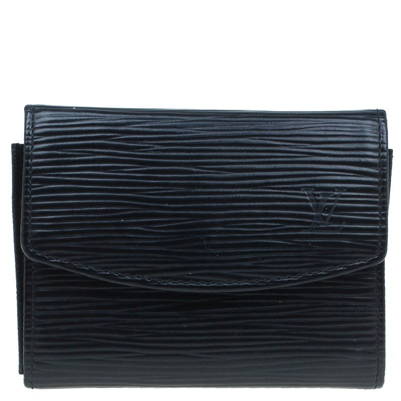 Louis Vuitton Black Epi Leather Business Card Holder