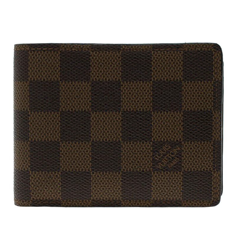2aedd75ca207 ... Louis Vuitton Damier Ebene Canvas Slender Wallet. nextprev. prevnext