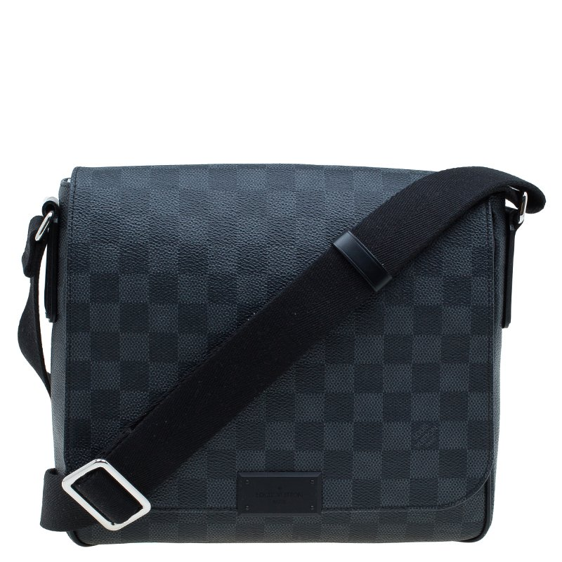 Buy Louis Vuitton Damier Graphite Canvas District PM Bag 60693 at ... a96eb41adbc4a