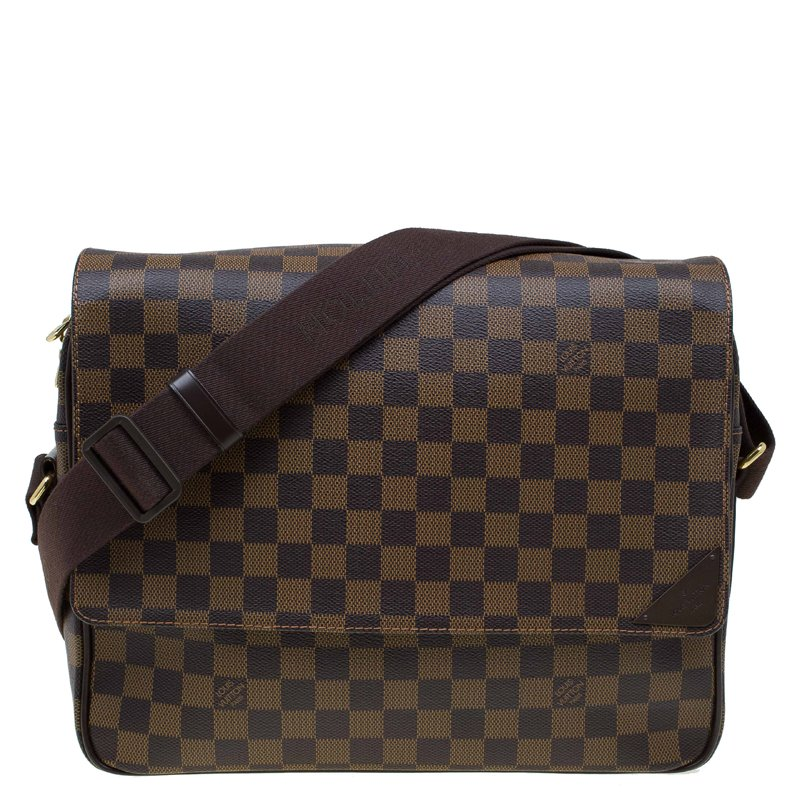 Buy Louis Vuitton Damier Ebene Canvas Shelton MM Messenger Bag 71614 ... 94b12aa0b769b