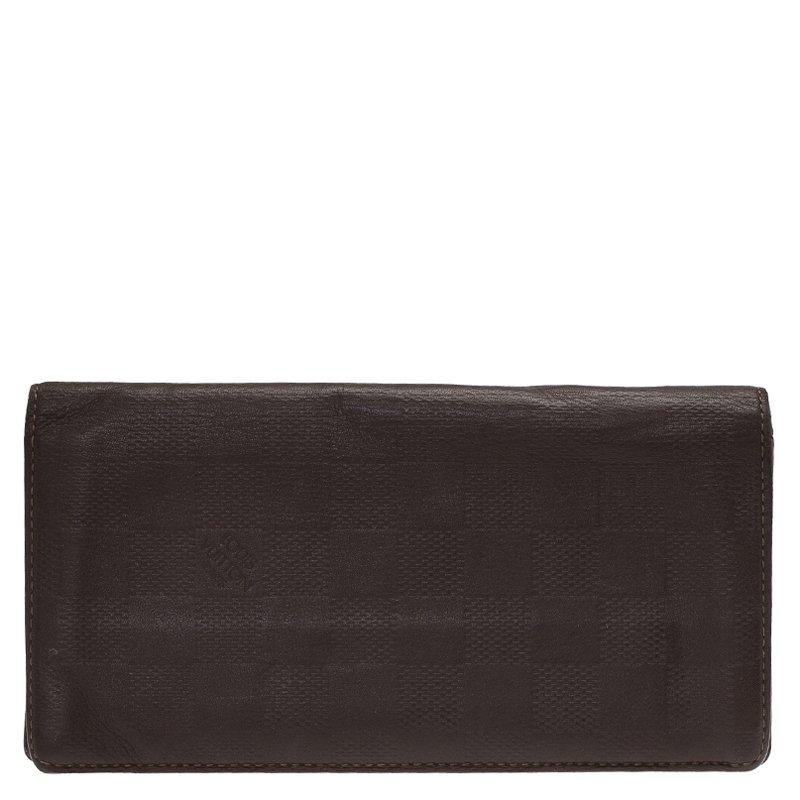 Louis Vuitton Granit Damier Infini Leather Brazza Wallet