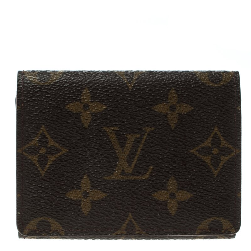 f57abe9a02 Louis Vuitton Monogram Canvas Business Card Holder
