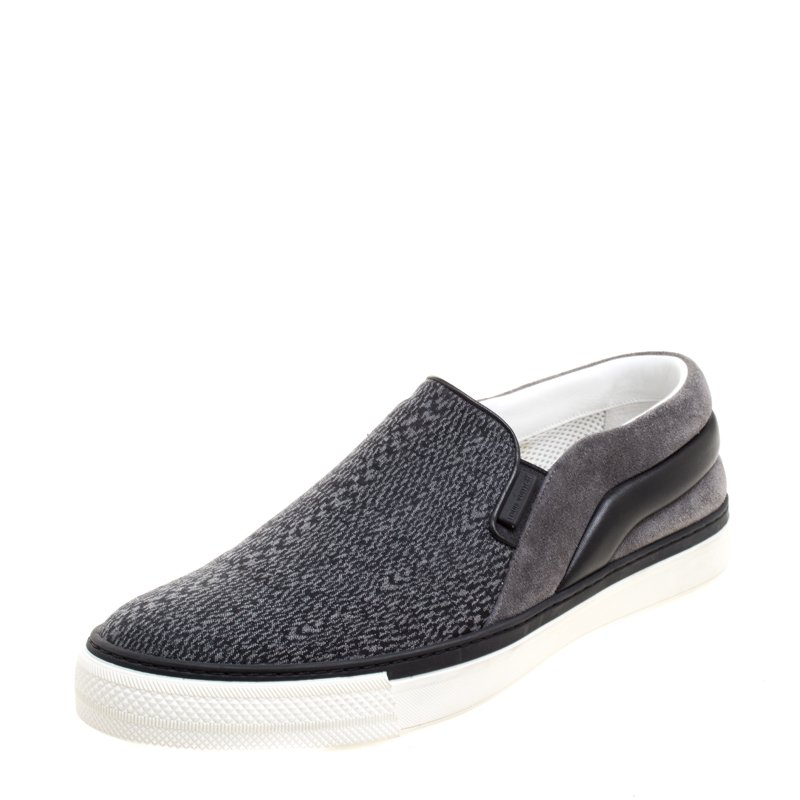 69729b689a6 Louis Vuitton Grey Suede and Leather Twister Slip-on Sneakers Size 43
