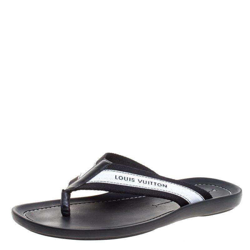 6615b29e4bc0 ... Louis Vuitton Monochrome Canvas Thong Sandals Size 42.5. nextprev.  prevnext