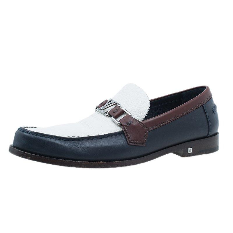 0792f1c1a24a ... Louis Vuitton Tri Color Leather Major Loafers Size 42.5. nextprev.  prevnext