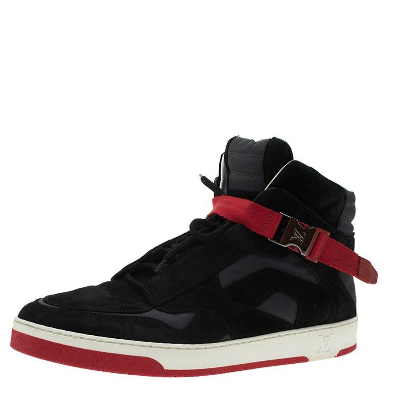 88c388690d9 Louis Vuitton Black Suede Slipstream High Top Sneaker Size 43